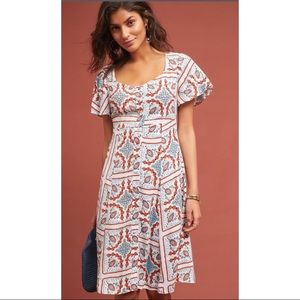 NWOT Anthropologie Maeve Praslin print dress